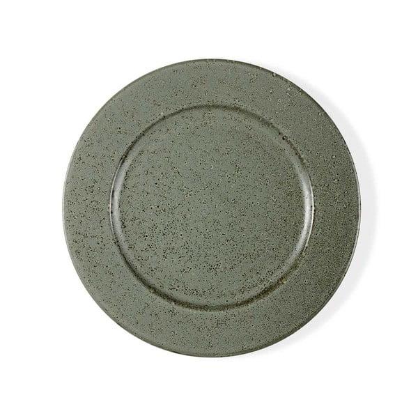 Zelený kameninový plytký tanier Bitz Basics Green, ⌀ 27 cm