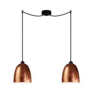Dvojité stropní svítidlo v měděné barvě Sotto Luce AWA Elementary 2S
