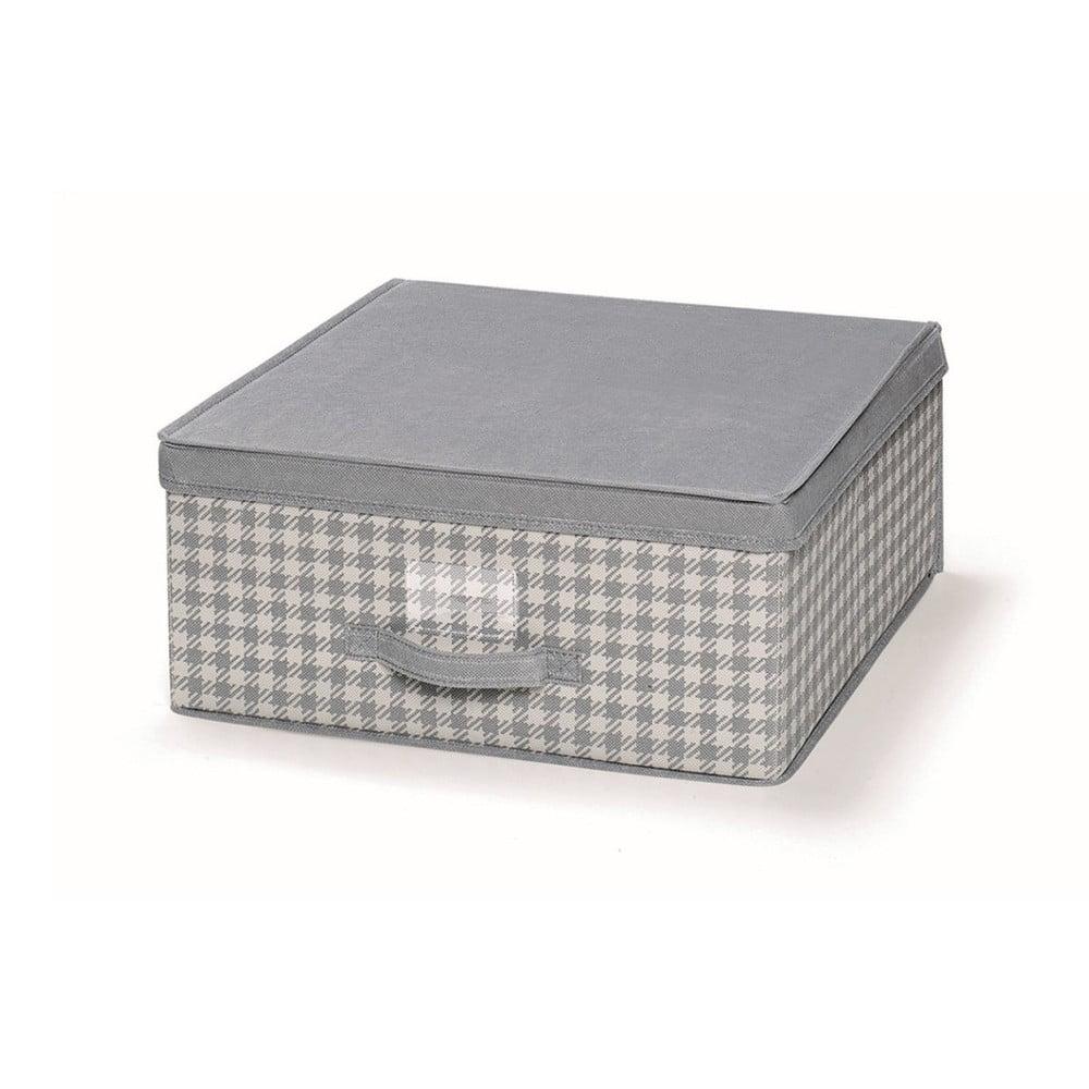 Šedý uložný box s víkem Cosatto De Poule, 45 x 45 cm