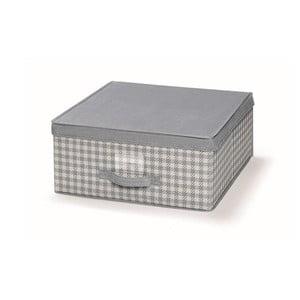 Šedý uložný box s víkem Cosatto De Poule,45x45cm