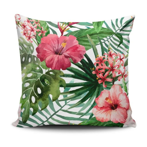 Pernă cu adaos de bumbac Cushion Love Jungle Flowers, 45 x 45 cm