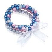 Perlový náramek Laris, modré perly