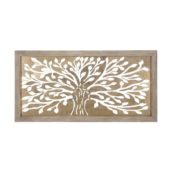 Nástěnná dekorace ve zlaté barvě Mauro Ferretti Tree, 100x49,5cm