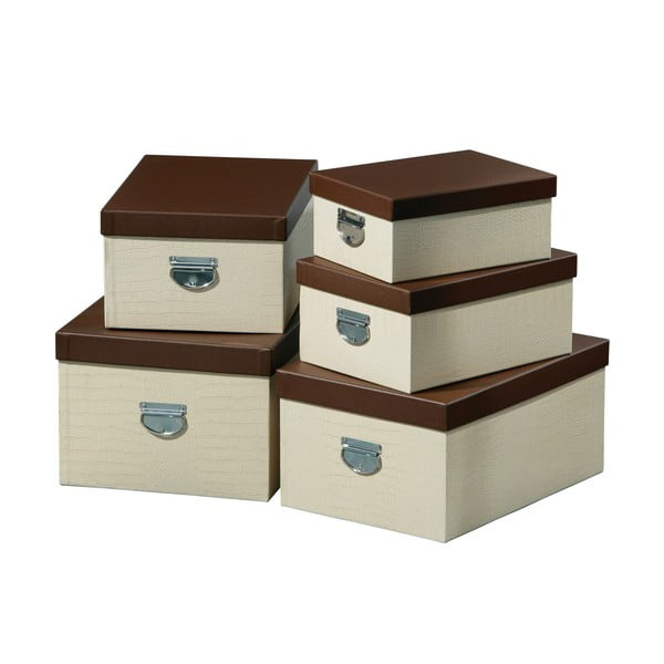 Sada 5 úložných boxů
