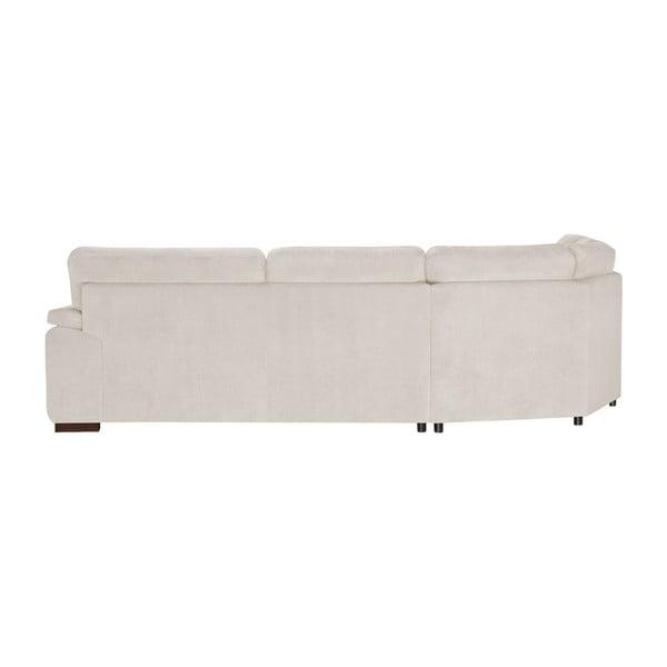 Krémově bílá rohová pohovka Florenzzi Casavola, šířka 2,57m, levýroh