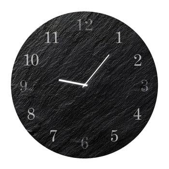 Ceas de perete Styler Glassclock Carbon, ⌀ 30 cm imagine