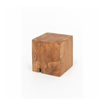 Taburet din lemn de tec WOOX LIVING Patchwork, 35 x 35 cm imagine