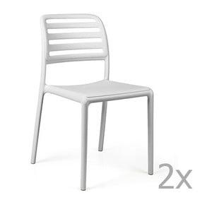 Sada 2 bílých zahradních židlí Nardi Costa Bistrot