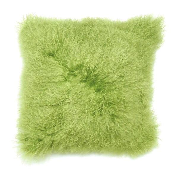 Polštář z mongolské vlny, zelený