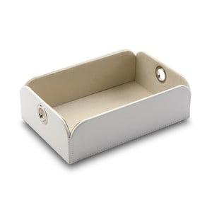 Bílý úložný box Versa Control, 20x6,5cm