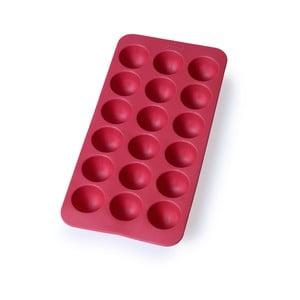 Červená silikonová forma na led Lékué Round, 18 kostek