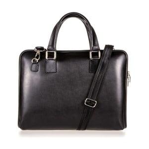 Černá kožená taška přes rameno Italia in Progress Giulio