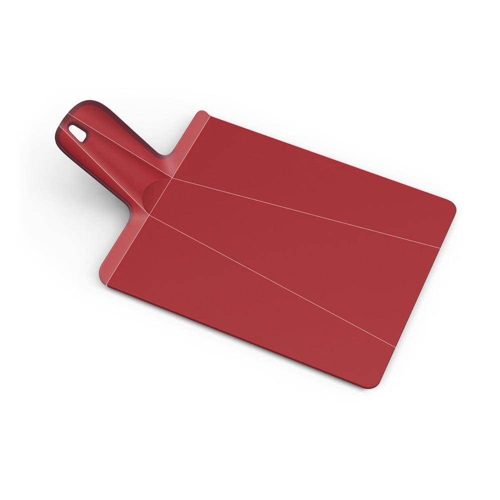 Červené skládací krájecí prkénko Joseph Joseph Chop2Po Plus