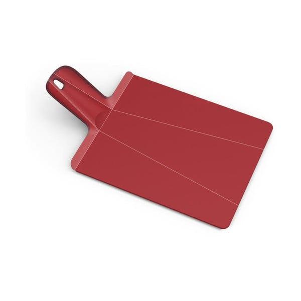 Červené skládací prkénko Joseph Joseph Chop2Pot Plus, délka 48cm