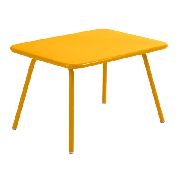 Žlutý dětský stůl Fermob Luxembourg