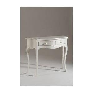 Măsuță consolă din lemn Castagnetti Venezia, alb