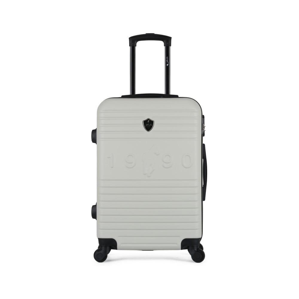 Béžový cestovní kufr na kolečkách GENTLEMAN FARMER Valise Grand Cadenas Integre, 35 x 55 cm