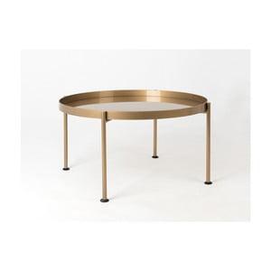 Konferenční stolek ve zlaté barvě Custom Form Hanna, ⌀80cm