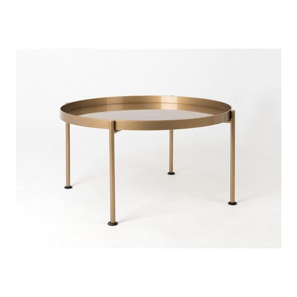 Hanna aranyszínű dohányzóasztal, ⌀ 80 cm - Custom Form