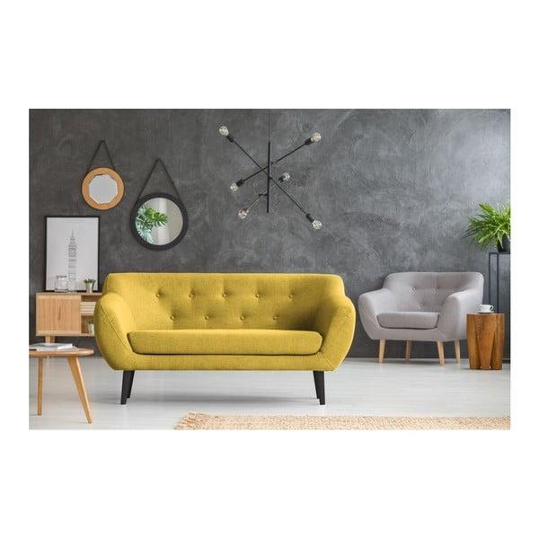 Žlutá 2místná pohovka Mazzini Sofas Piemont