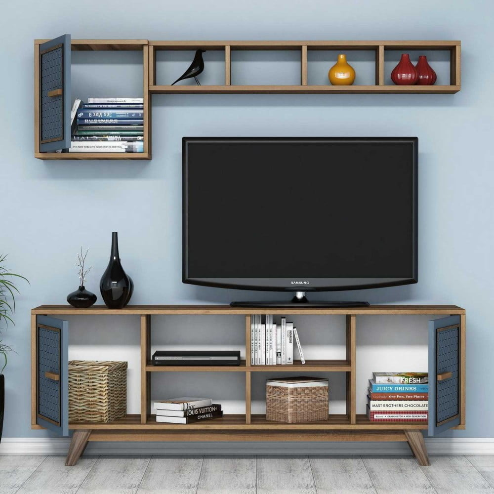Modrý TV stolek Ayla