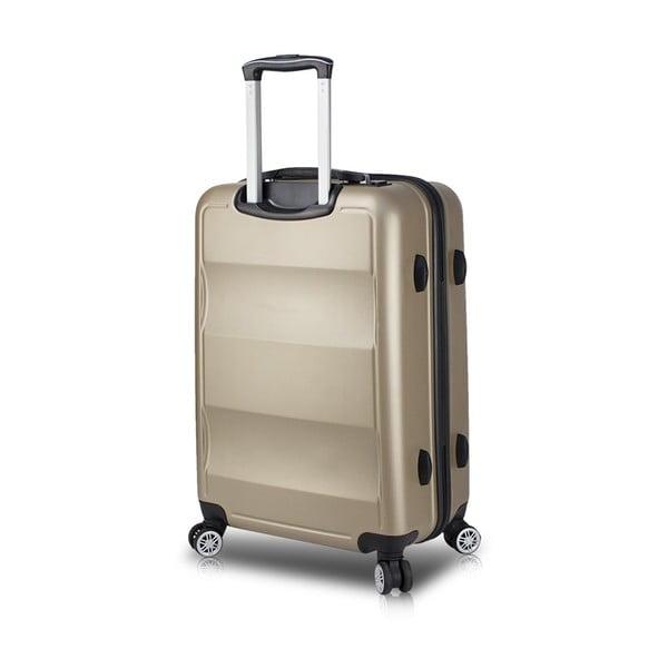 Cestovný kufor na kolieskach s USB portom v zlatej farbe My Valice COLORS LASSO Large Suitcase