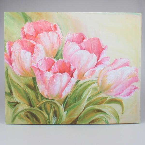 Nástěnný obraz na plátně Dakls Tulips, 56x46cm