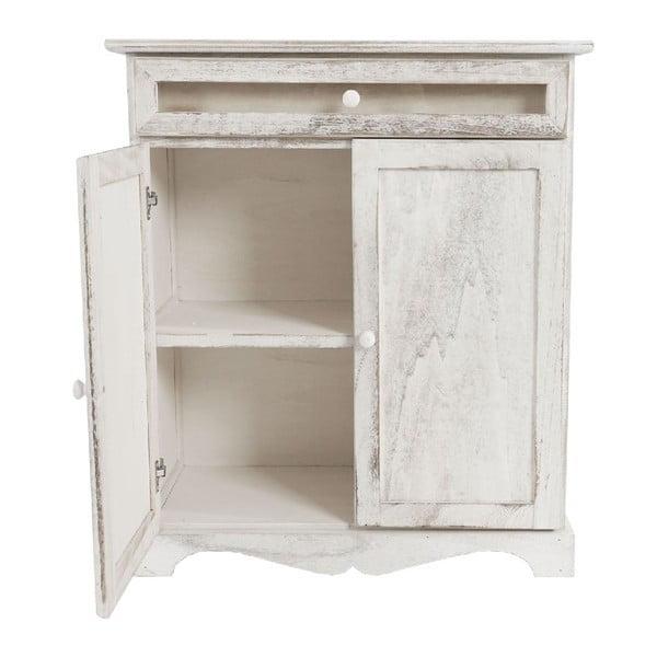 Bílá dřevěná skříňka Mendler Shabby Vintage