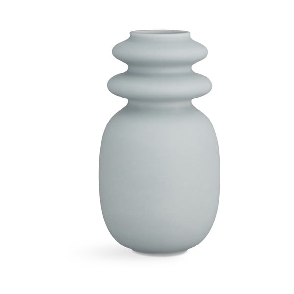 Kontur kékesszürke kerámia váza, magasság 29 cm - Kähler Design
