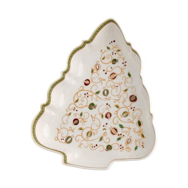 Biela servírovacia miska s vianočným motívom Brandani Tempo di Festa