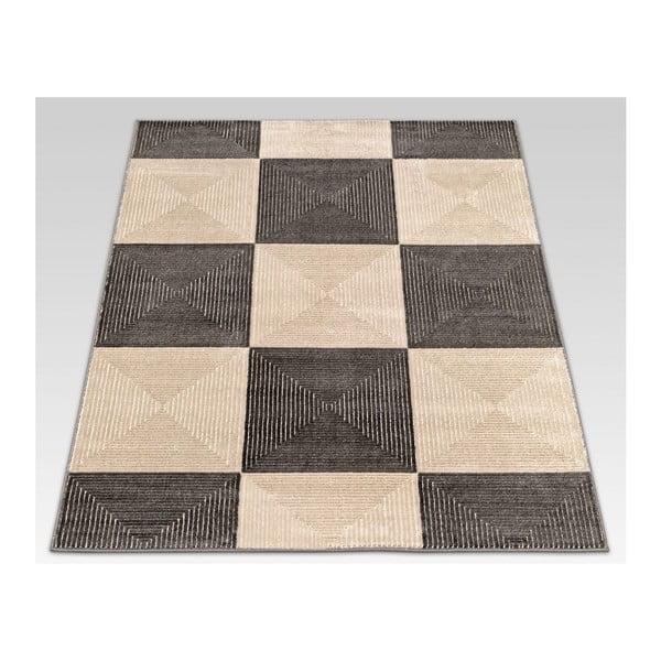 Koberec Webtappeti Reflex Brown Chess, 200 x 290 cm