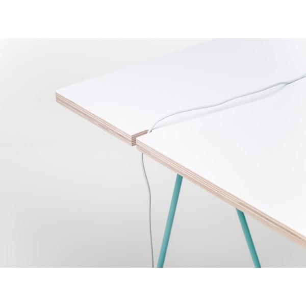 Bílá deska k podnožím Master & Master Studio, 130x60cm