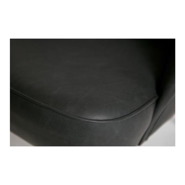 Černé křeslo z recyklované kůže De Eekhoorn Vogue