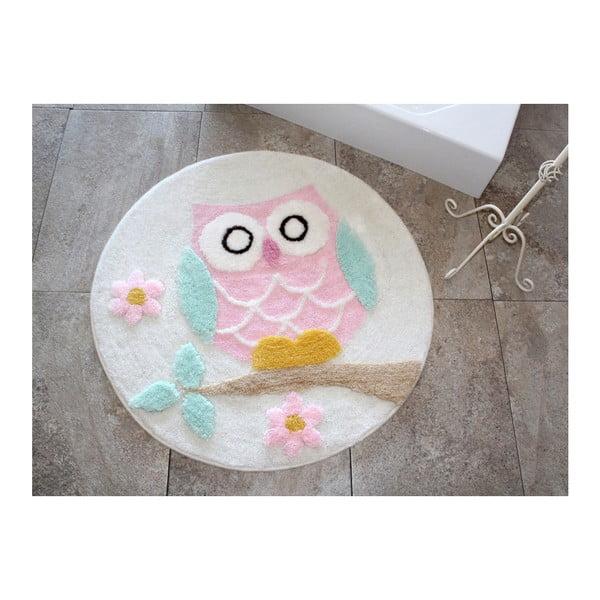 Alessia Owl Ecru fürdőszobai kilépő, Ø 90 cm