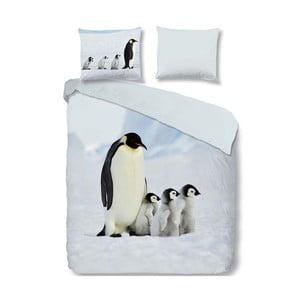 Bavlněné povlečení na jednolůžko Good Morning Penguins, 140 x 200 cm