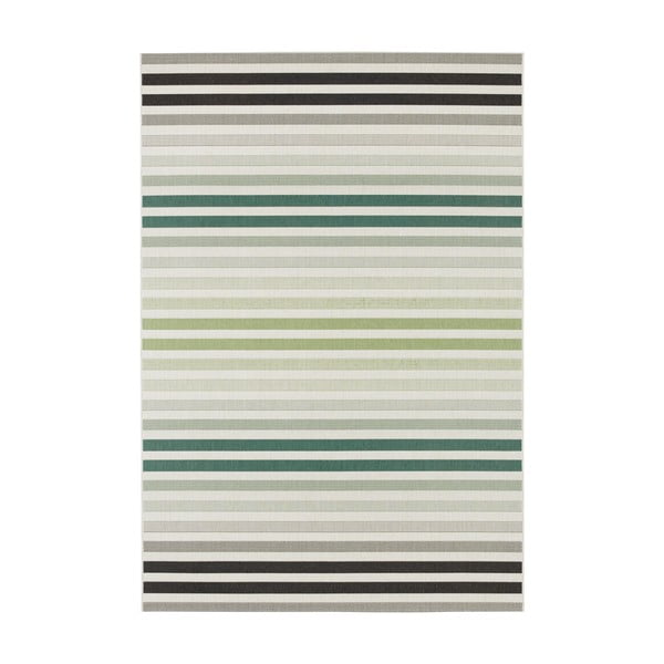 Zeleno-šedý venkovní koberec Bougari Paros, 120 x 170 cm