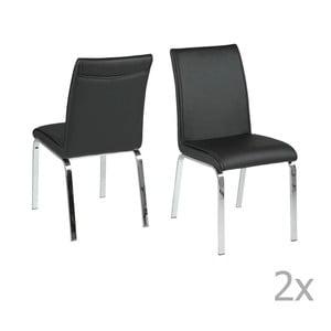 Set 4 scaune Actona Leonora, negru