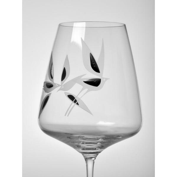Skleničky na červené víno Mořští ptáci, 450 ml, 2 ks