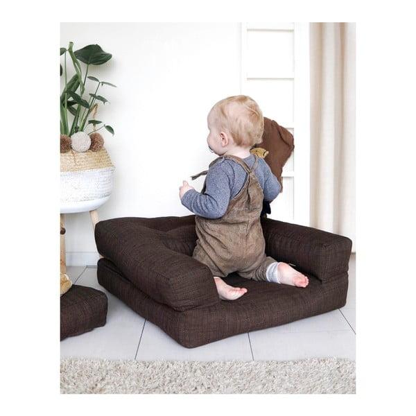 Dětské rozkládací křesílko s taburetkou Karup Design Mini Cube Grey