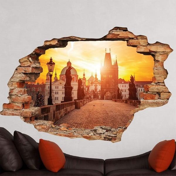 3D samolepka na zeď Ambiance Praha Karlův most, 90x60cm