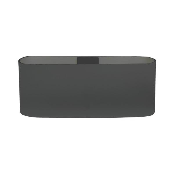 Magnetický květináč Truhlík 13x6x7 cm, tmavě šedivý
