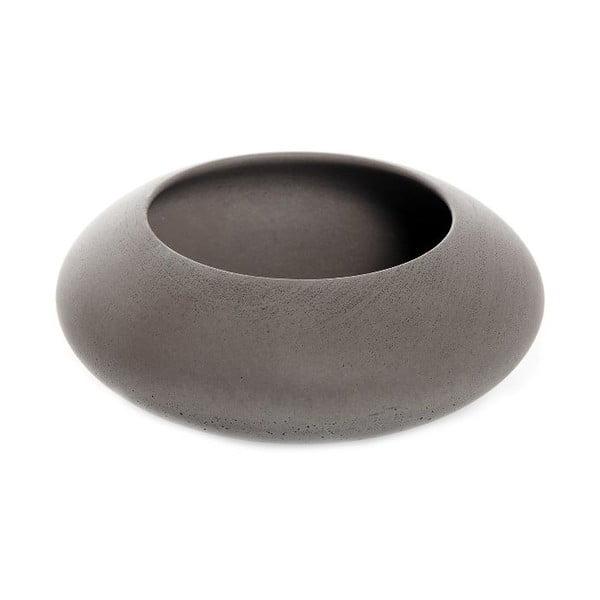 Hnědá betonová miska Iris Hantwerk, Ø13.5 cm