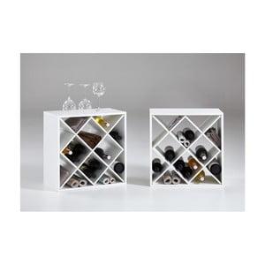 Set 2 suporturi pentru vin Riki2, alb
