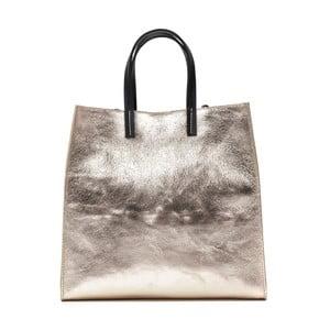 Kožená taška do ruky ve zlaté barvě Renata Corsi