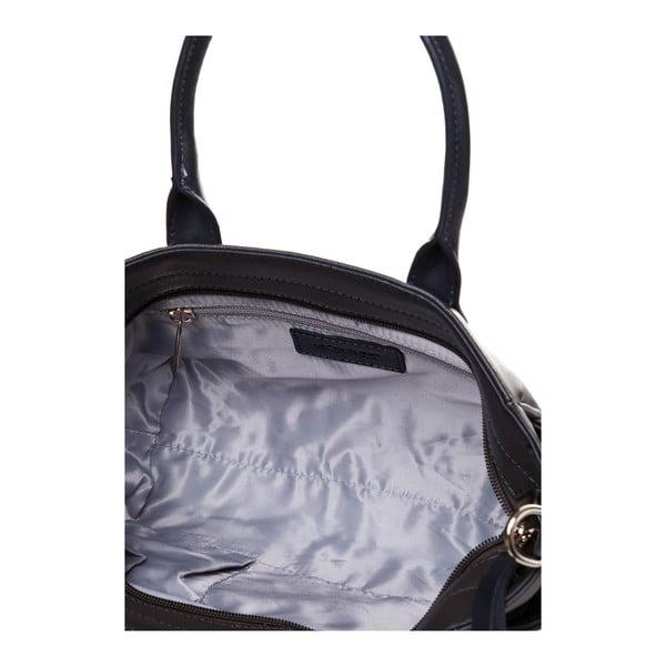 Kožená kabelka do ruky Marta Ponti Pocket Deux, šedá/béžová