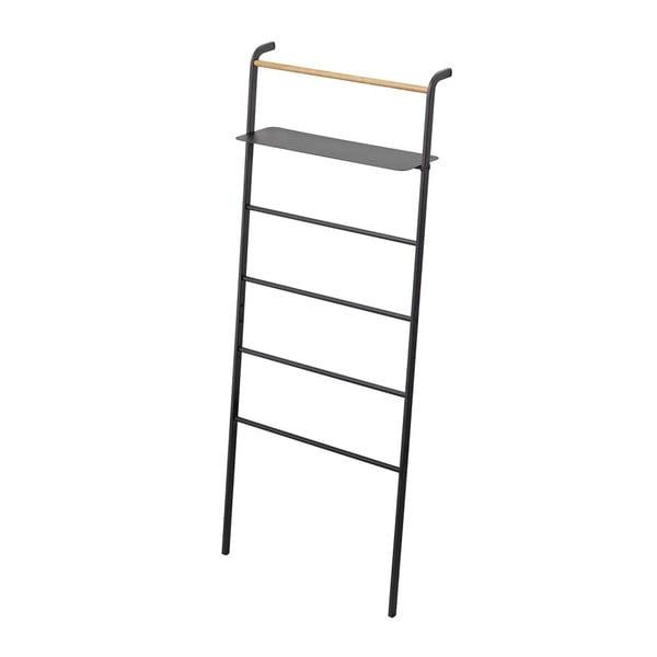 Černý věšák s poličkou YAMAZAKI Tower Ladder