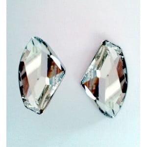 Náušnice Bílý krystal