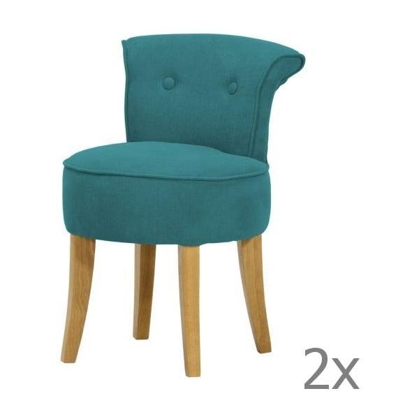 Sada 2 židlí George Soro Turquoise