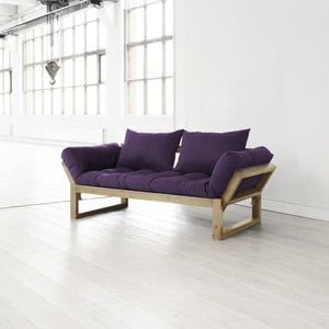 Sofa Edge purple/natural