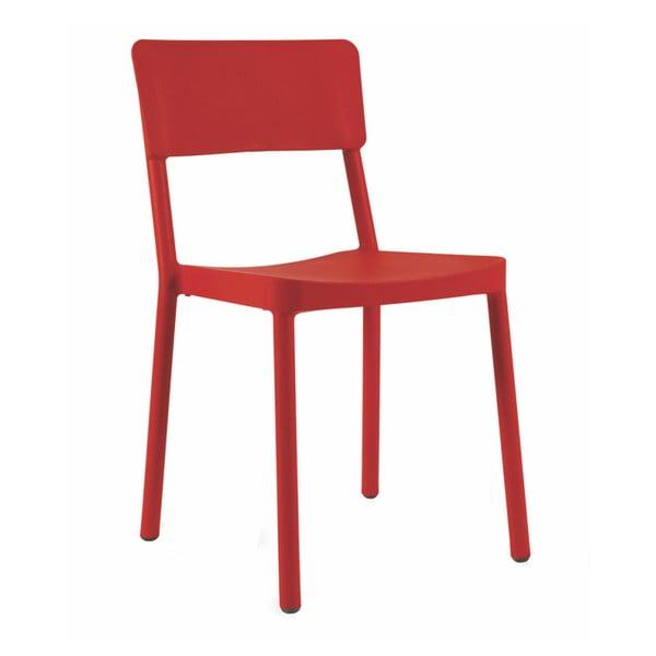 Sada 2 červených zahradních židlí Resol Lisboa